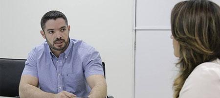 Lukano Sá e Rejane Dias discutem parceria para a Feira Literária de Oeirascapa