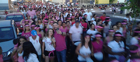 Caminhada pelo Outubro Rosa acontece em Oeiras capa